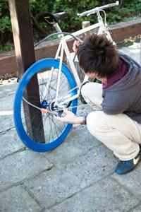 自転車の固定方法
